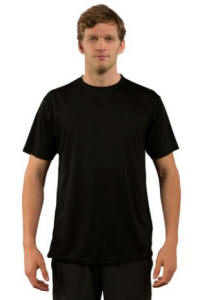 Sublimation Shirts - Vapor Adult Micro-Performance Short Sleeve - Black